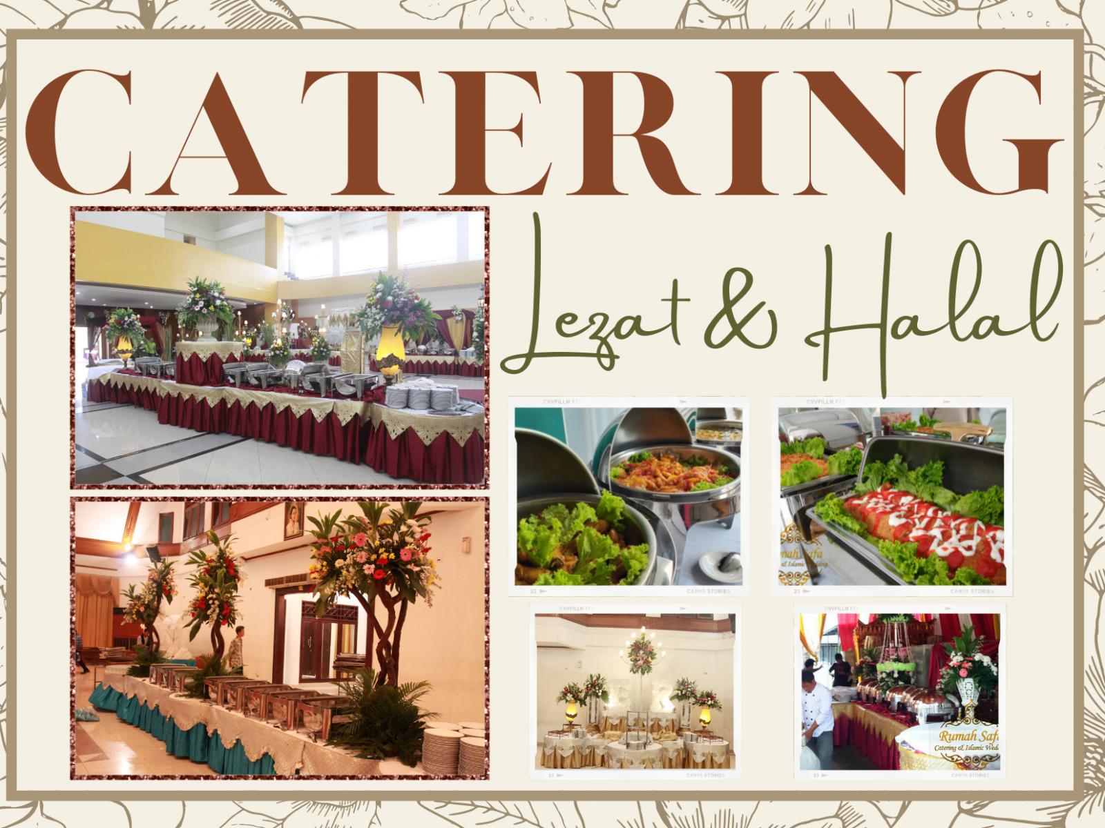 Rumah Safa Menyediakan Katering yang Halal, Lezat dan Beragam untuk keperluan berbagai event Wedding, Rapat, Pameran, Syukuran dll.